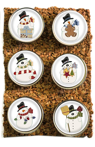 Large Christmas Snowman Thumbtacks and Corkboard Pushpins for Bulletin Boards
