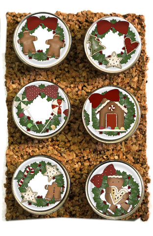 Large Christmas Thumbtacks and Corkboard Pushpins for Bulletin Boards