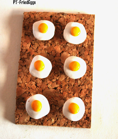 Fried Egg Thumbtacks, Corkboard Pushpins
