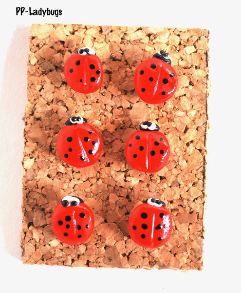 Ladybug Thumbtacks Corkboard Pushpins