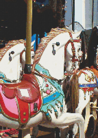 carousel horse counted cross stitch pattern