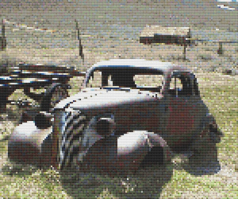 32 Chevrolet Cross Stitch PDF Pattern, Ghost Town Car, Old West, Counted Cross Stitch Pattern, Xstitch Pattern