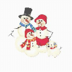 Free Printable Christmas Ornament Cross Stitch Patterns.Snowman Snow Family Holiday Winter Christmas Christmas
