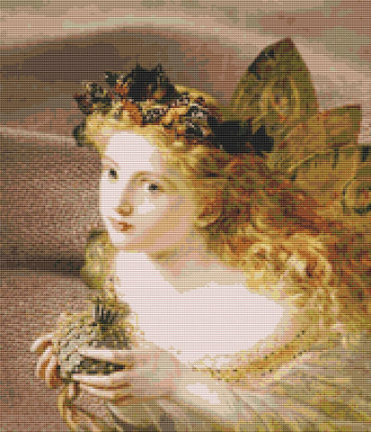 Victorian Angel Counted Cross Stitch Pattern Download Printable