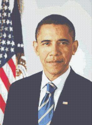 President Obama Counted Cross Stitch Pattern Download Printable