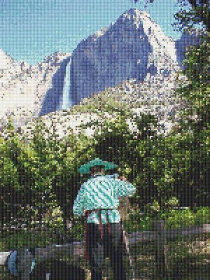 Yosemite and Artist Counted Cross Stitch Pattern Download Printable
