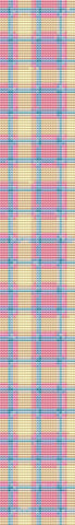 Pink Plaid Bookmark Counted Cross Stitch Patterns