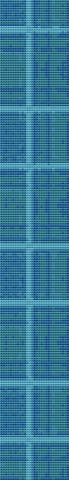 Blue Plaid Bookmark Counted Cross Stitch Patterns