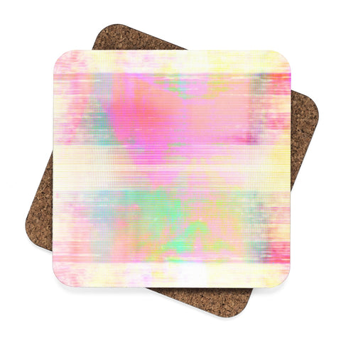 Watercolor Blend Square Hardboard Coaster Set - 4pcs