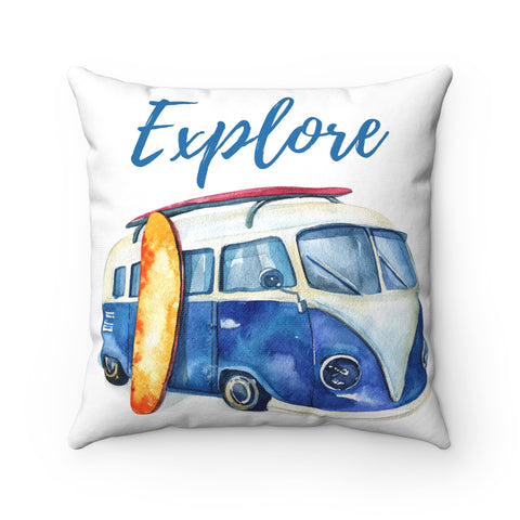 Beach decor throw pillow