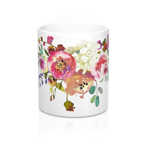 Rose Spray Flower Coffee Mugs for Women