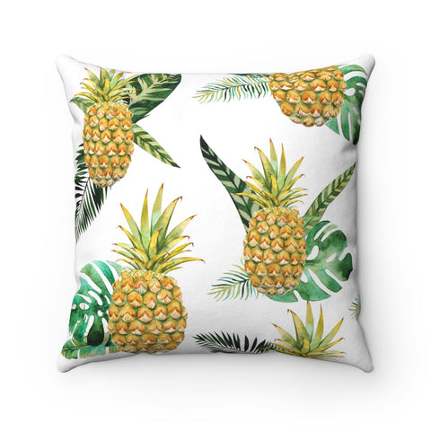 Welcome Pineapple Decorative Throw Pillow, Beach House Decor, Tropical Decor, Pineapple Pillow