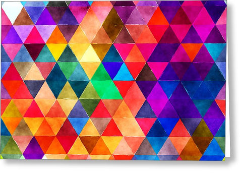 Colorful Diamonds Blank Note Card, Greeting Card with Envelope