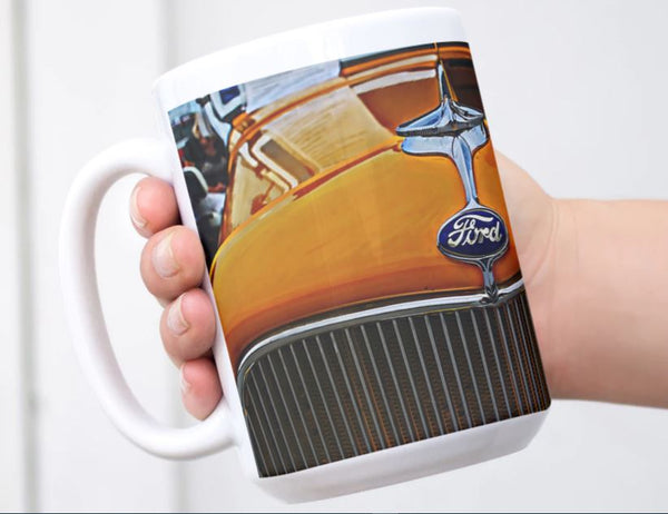 1932 Ford Hot rod Coffee Mug for Guys Roadster Art