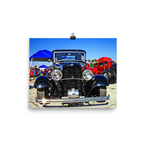 1932 Ford Hot Rod Poster for Guys Matte Finish Garage Wall Art