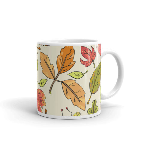 Autumn Leaves Coffee Mug, Fall Decor