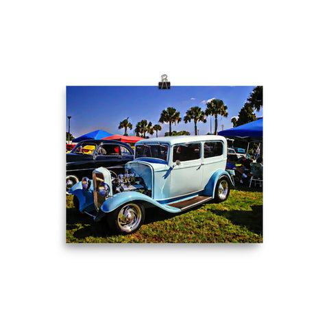 1932 Ford Hot Rod Poster Matte Print for Garage or Office Wall Art
