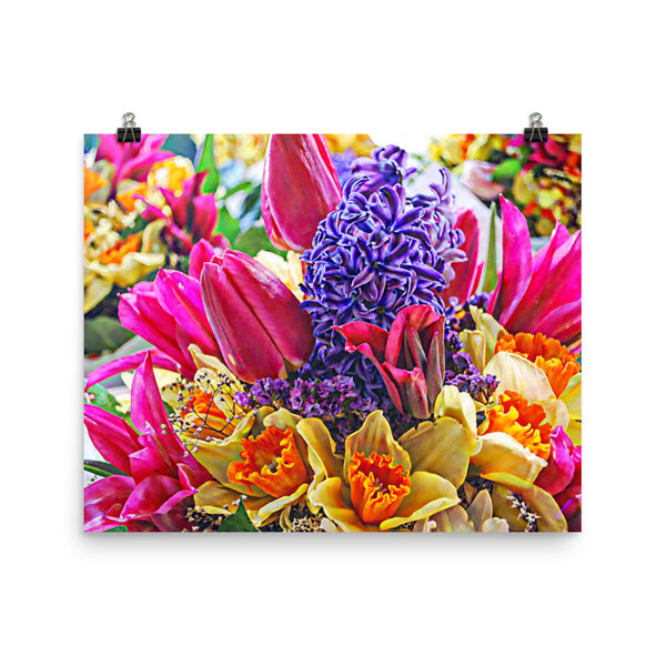 Tulip Fest Floral Poster Print Wall Art Washington State Home Decor