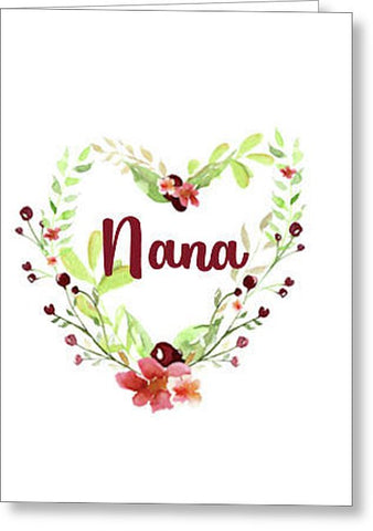 Nana Blank Note Card with Envelope, Greeting Card