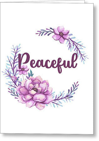 Peaceful Inspirational Blank Note Card, Greeting Card with Envelope