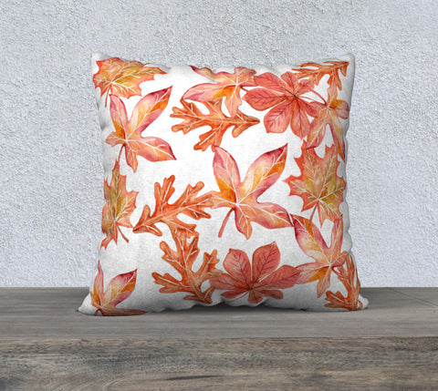 Falling Leaves Autumn Pillow Case for Throw Pillows, Fall Decor for Your Home, Brilliant Autumn Leaves on a Pillow Case