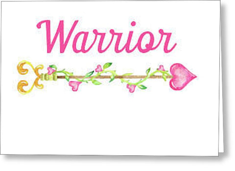 Warrior Inspirational Blank Note Card, Greeting Card with Envelope