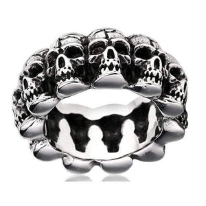 360 Degree Skulls Ring