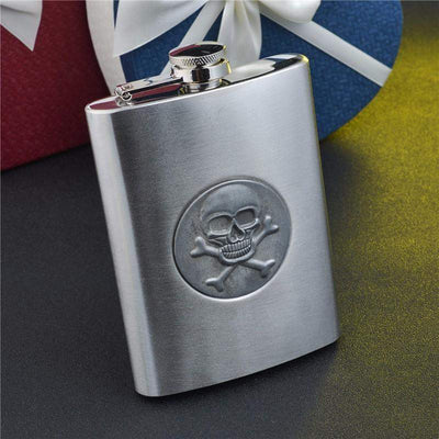 8 oz Skull Hip Flask Special Collection