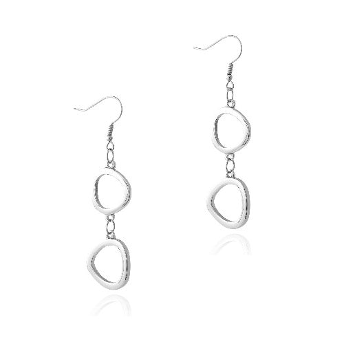 Stainless Steel Abstract Dangle Earrings