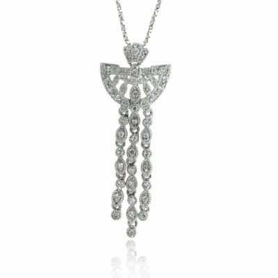 Diamond Chandelier Silver Pendant