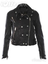 Black Soft Nappa Brit Ladies Leather Jacket