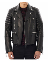 Black Lamb Nappa Leather Prosum Biker Jacket
