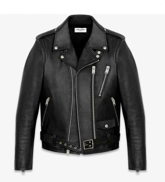 Black Lamb Nappa Leather Signature Biker Jacket