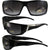 Pacific Coast Sunglasses Legend Sunglasses Gloss Black Frame Chrome Accent Smoke Lens