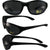 Pacific Coast Sunglasses Flash Safety Sunglasses Matte Black Frames Smoke Lens