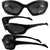 Pacific Coast Sunglasses Navigator Padded Sunglasses Matte Black Frames Smoke Lens