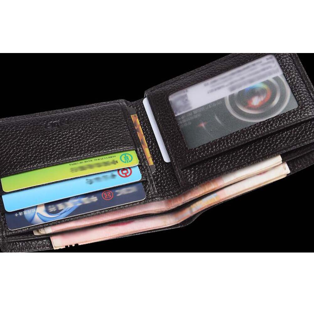 Brown Leather Flipout Mens Wallet