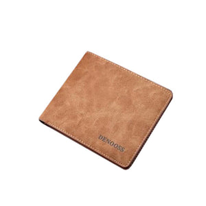 Brown Pu Leather Denim Flipout Mens Wallets