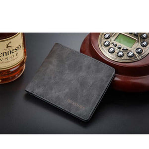 Black Pu Leather Denim Flipout Mens Wallet