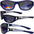 Pacific Coast Sunglasses Blue Ice Sunglasses Blue Frames Polarized Blue Mirror Lens