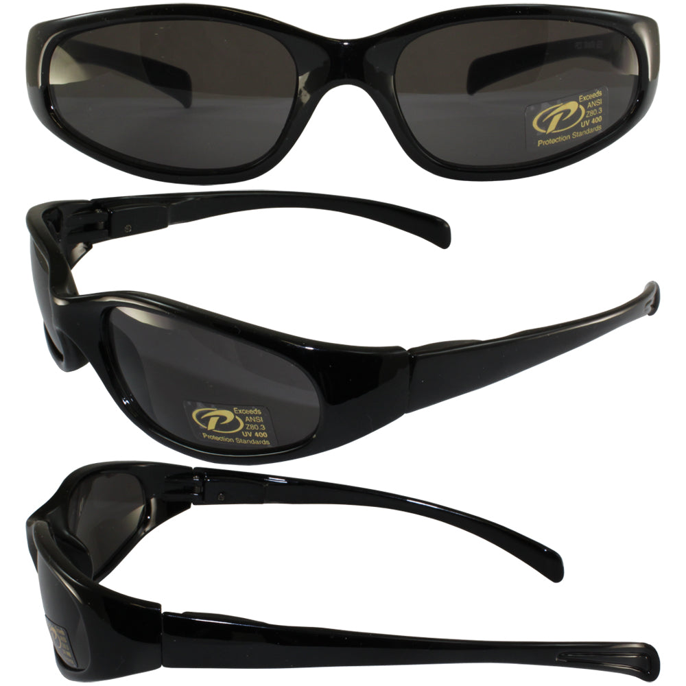 Chix Heavenly Pacific Coast Sunglasses Gloss Black Frames Smoke Lens
