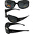Pacific Coast Sunglasses Chix Starlight Womens Sunglasses Gloss Black Rhinestone Designed Frames Polarized Smoke Lens