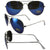 Pacific Coast Sunglasses Aviator Sunglasses Silver Chrome Frames Blue Mirror Lenses