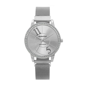 Montres Carlo Sterling Silver Band Watch