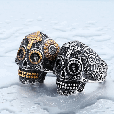 Anillo Gothic Carved Anillos