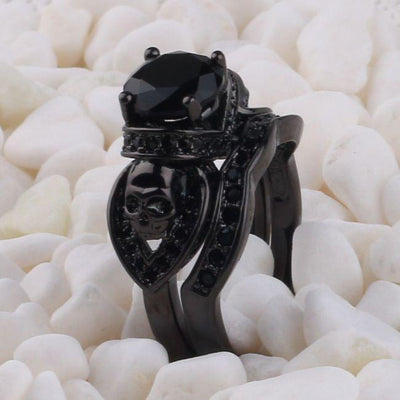 Black Set-Ladies Sull Engagement Ring-Rear Tone