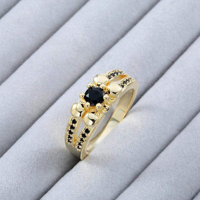 Black Zircon Gold Color