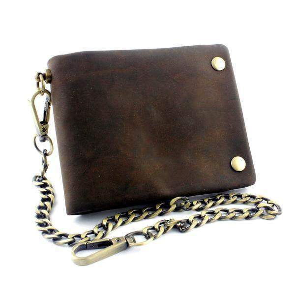 Brass Snap Brown Wallets