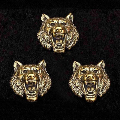 Brass Wolf Conchos-Wallet Accessories-Rear Tone