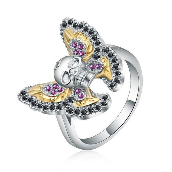 Butterfly-Ladies Sull Engagement Ring-6-Rear Tone